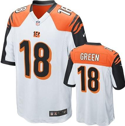 reputable site a07d3 74c79 Amazon.com : Nike Cincinnati Bengals AJ Green Game White ...