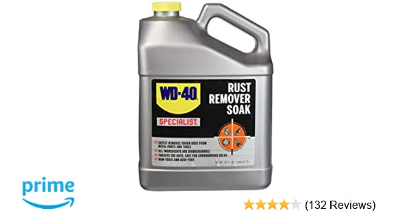 Wd 40 Rust Remover >> Amazon Com Wd 40 Specialist Rust Remover Soak Fast Acting Rust