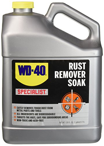 WD-40 Specialist Rust Remover Soak - Fast Acting Rust Dissolver. 1 Gallon (Pack of 1) ()