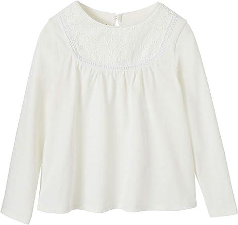 Vertbaudet - Camiseta de manga larga para niña con bordado inglés
