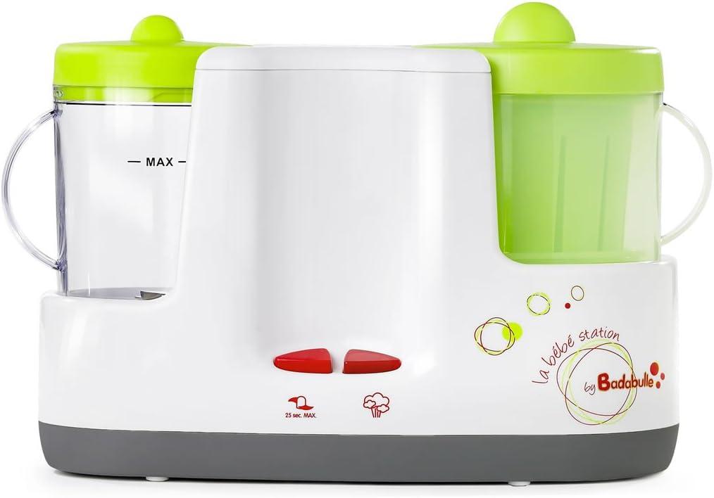 badabulle b001003 Robot de cocina Baby Station, color blanco/verde ...