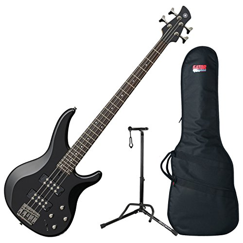Yamaha TRBX304 BL TRBX-304 Black 4 String Bass Guitar w/ Gig Bag and Stand