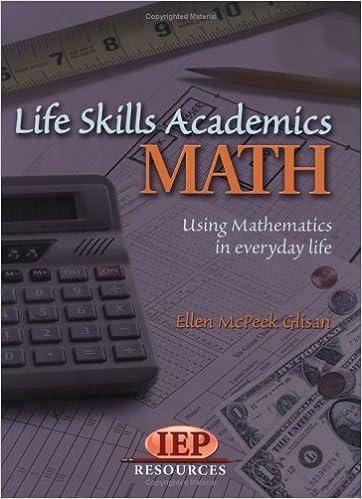 Life Skill Academics: Math: Ellen Mc Peek Glisan: 9781578611546 ...