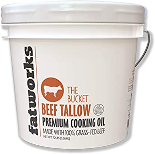product image for Fatworks 100% Grass-Fed Beef Tallow, Pasture Raised, USDA, Small Batch Rendered, Sourced from U.S. Sustainable Small Family Farms, Keto, Paleo, Whole30 Approved, 1 Gallon