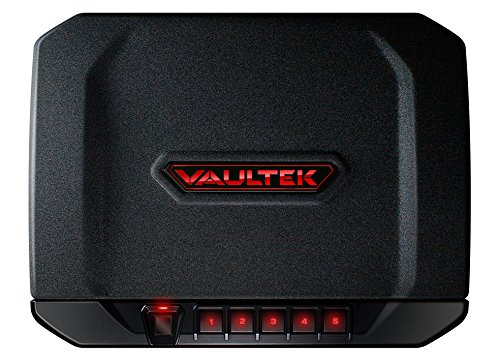 Review VAULTEK VT20i Biometric Bluetooth Smart Pistol Safe with Auto-Open Lid and Rechargeable Batte...