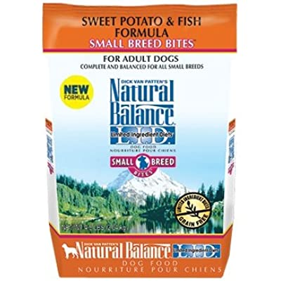 Natural Balance Sweet Potato & Fish Small Breed Bites Dry Dog Food-Salmon-12lb