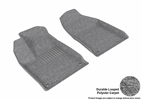 3D MAXpider Front Row Custom Fit All-Weather Floor Mat for Select Chrysler 200 Models - Classic Carpet  (Gray)