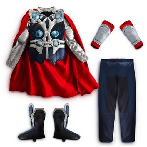 Disney Store the Avengers Deluxe Thor Costume Halloween for Boys Toddlers (S 5-6 Small)