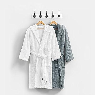 Prima Cotton Terry Bathrobe for Women Long HoodedRobe High Water Absorption Spa Kimono with Pockets Unisex