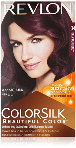 Revlon Colorsilk Beautiful Color for Unisex, 34 Deep Burgundy (Pack of 12)