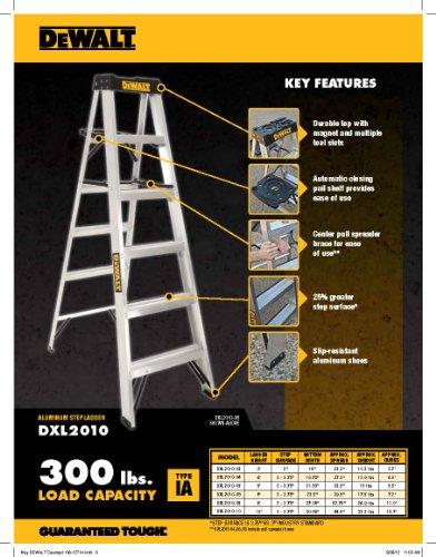 DeWalt DXL2010-02 2-Feet Aluminum Stepladder Type IA with 300-Pound Duty Rating, 2-Feet by DEWALT (Image #2)