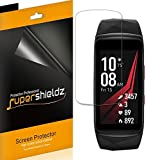 Supershieldz [6-Pack] for Samsung Gear Fit2 Pro/Fit 2 Pro Screen Protector [Full Screen Coverage] High Definition Clear Shield + Lifetime Warranty