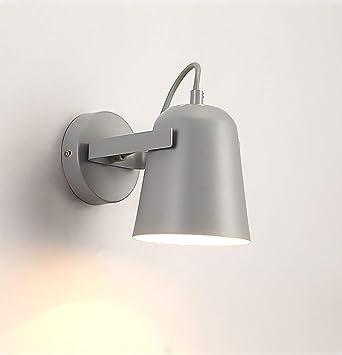 Mkjbd Linterna de Pared Lámpara de Jardín Lámpara de Pared Lámpara de Pared Lámparas de Pared Lámparas Del Norte de Europa Lámparas de Noche Cálidas Creativas Simples Individualidad Sala de Estar Mac: