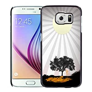 Beautiful Designed Case For Samsung Galaxy S6 Phone Case With Sunshine and Tree Phone Case Cover