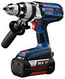 bosch 1 2 hammer drill - Bosch 36V Hammer Drill/Driver Kit with (2) Fat Pack (4.0Ah) Batteries HDH361-01