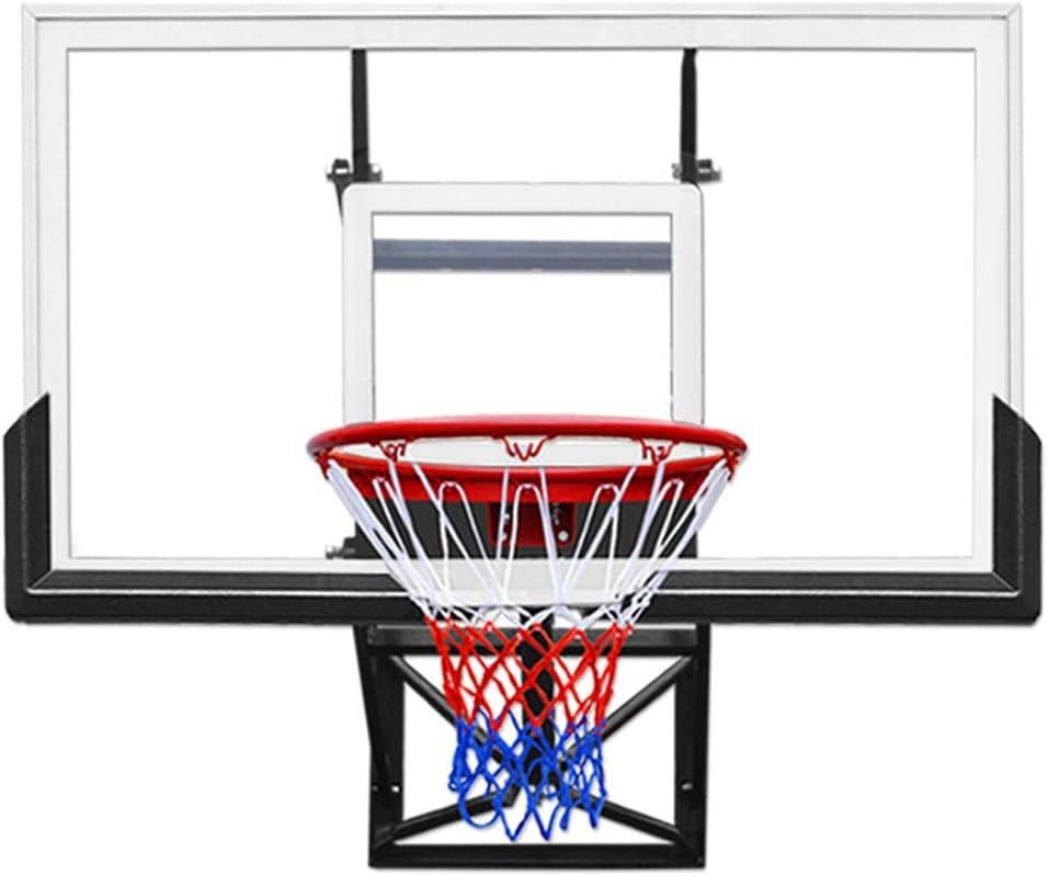 Basketball Hoop with Backboard 54 Wall Mounted Mini Adjustable Basketball Hoop Black