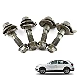Qiilu 4pcs 14mm Vehicles Steel Four Wheel Alignment Adjustable Camber Kit Cam Bolt