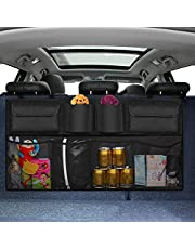 Onewell Car Boot Organiser, Keep Car Clean and Organized, Durable Foldable Cargo Net Storage for More Trunk Space, Secure Car Organizer with Adjustable Straps to Fit All Vehicles