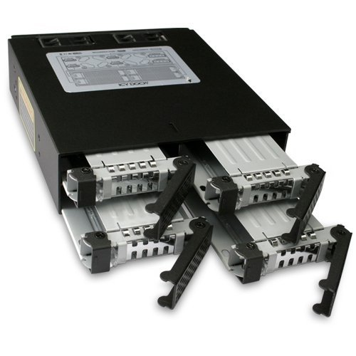 Icy Dock MB994SP-4SB-1 recinto de almacenaje - Disco duro en red (SATA, SATA, Negro)