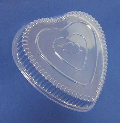 Durable Packaging Plastic Dome Lid for Aluminum Heart Pan (Pack of 100)