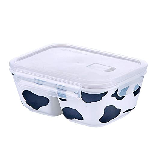 Fresh Seal Lunch Box Tres rejillas Recipiente de cerámica ...