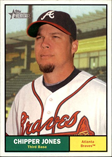 2010 Topps Heritage Baseball #120 Chipper Jones Atlanta Braves