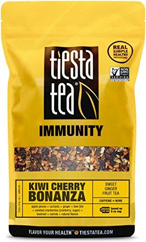 ea | KIWI CHERRY BONANZA 1 Lb Bag by TIESTA TEA | Caffeine Free | Loose Leaf Herbal Tea Immunity Blend | Non-GMO (Cherry Caffeine Free Coffee)