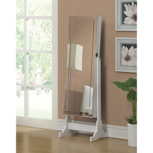 Coaster Home Furnishings 901827 Casual Jewelry Armoire, White