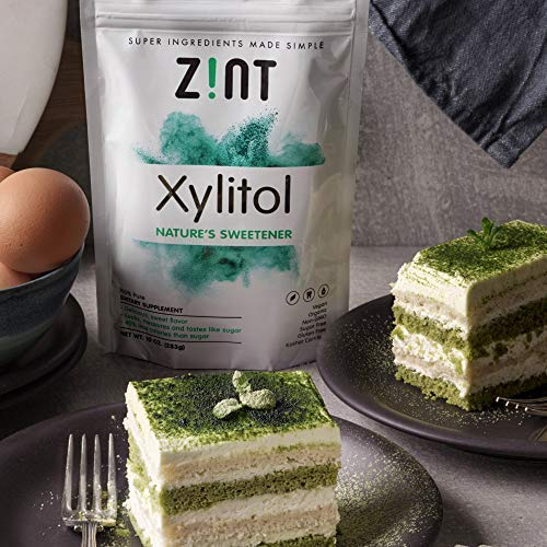 Zint Organic Xylitol Sweetener: Natural Sugar Free Substitute, Non GMO, Low Glycemic Index, Measures & Tastes Like Sugar (16 ounces) by Zint (Image #2)