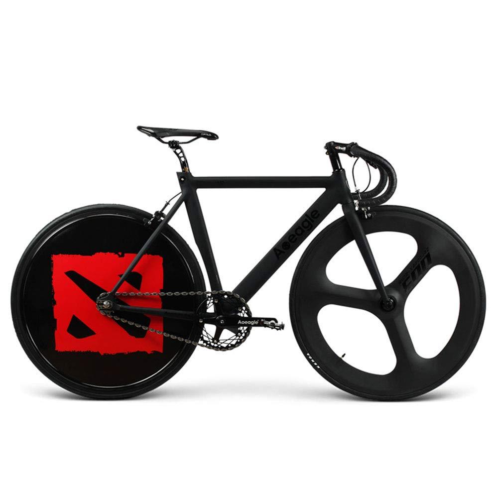自転車、ロードバイク、Ledライトhyunクールリアホイール、内蔵充電式リチウムバッテリー、アルミ合金フレーム、フロントホイールカーボンファイバー、車重さ9.9Kg、車長160cm高80cm   B07HL8NJM3