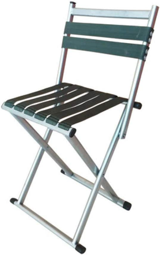 LIUQIAN Sillas de acampada Silla plegable al aire libre silla en el hogar silla de respaldo silla pequeña cama de caballo silla simple pesca portátil chai