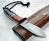 Poshland BC-119, Handmade Damascus Steel Knife – Ideal for Hunting and Bushcraft