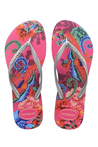 Orchid Slim Bleu Flip Pop up Flop tropical Logo Havaianas Rose aUqv1v