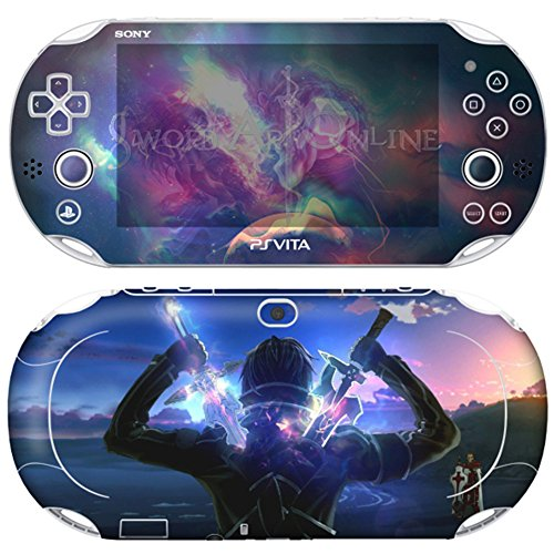 Premium Skin Decals Stickers For PlayStation VITA Slim 2nd Generation PCH-2000 Series Consoles Korea Made - POP SKIN SAO #08 + Free Gift Screen Protector Film + Wallpaper Screen Image ()