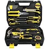 DOWELL 17 PCS Tool Set, General Portable Hand Tools Set With Plastic Tool Box Storage Case
