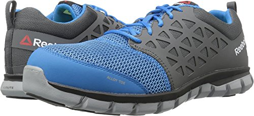 Reebok Work Mens Sublite Cushion Low Top Lace Up Running, Blue/Grey, Size 9.0