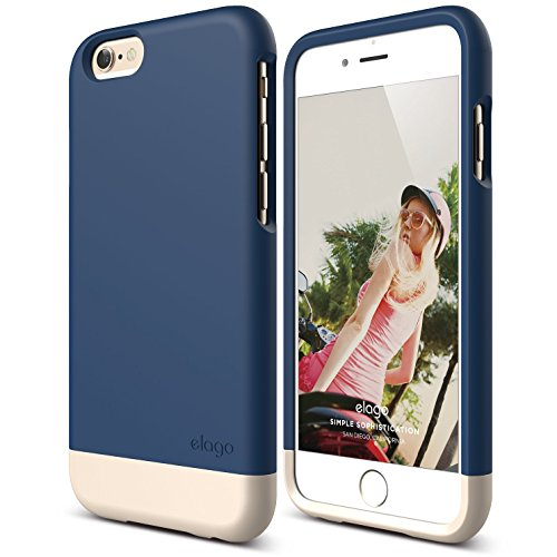 iPhone 6 Case, elago [Glide][Jean Indigo/Champagne Gold] - [Mix and Match][Premium Armor][True Fit] - for iPhone 6 Only