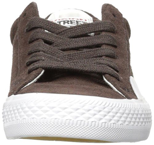 Syn Street Wear Kvinna Mocka Lo Sneaker Choklad / Vit