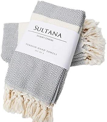 Amazon.com: Sultana Luxury Linens - Juego de 4 toallas de ...