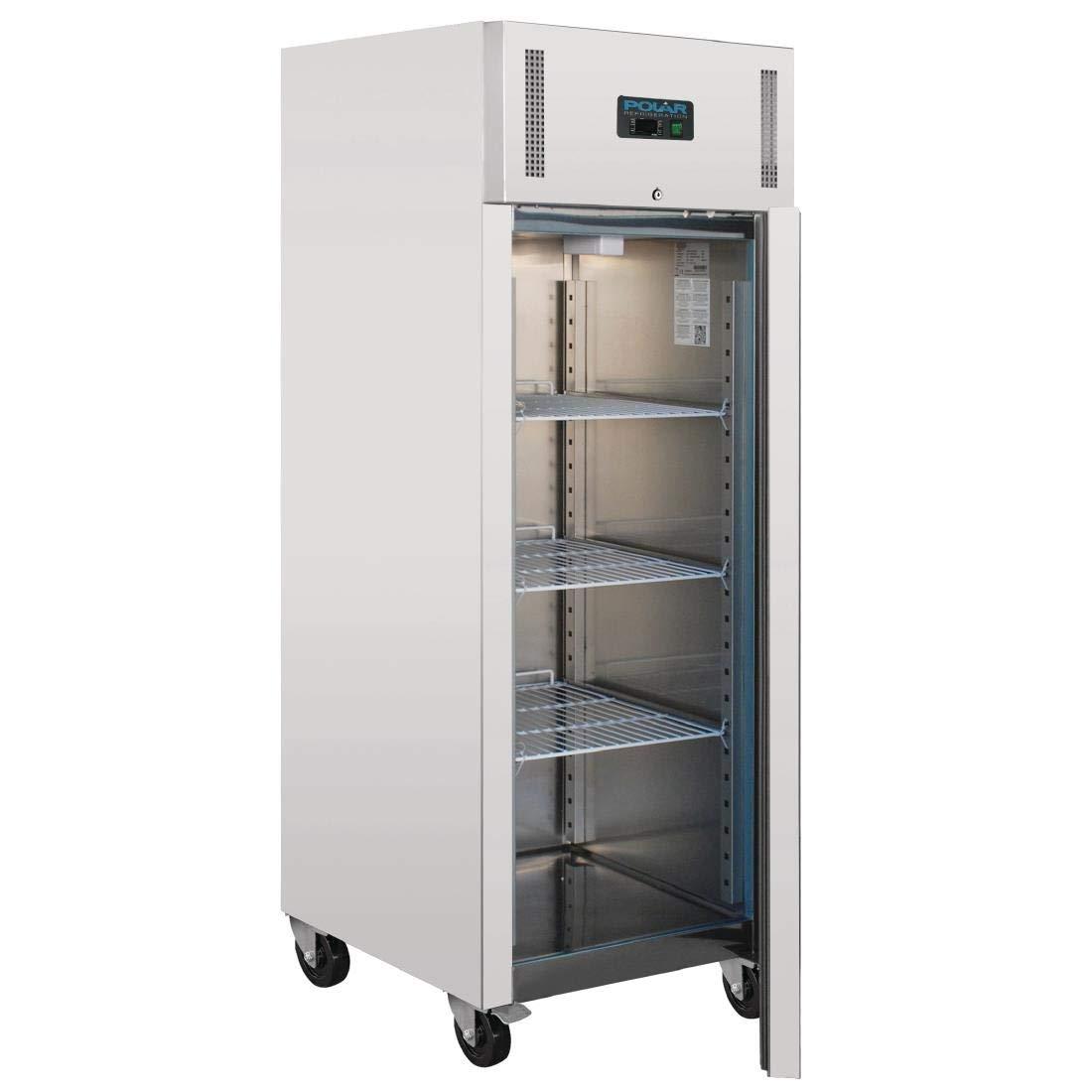 Polar Heavy Duty sola puerta congelador frigorífico comercial 650L ...