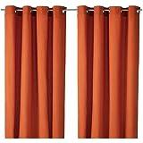 Ikea Mariam Cotton Curtains2 Panels Orange