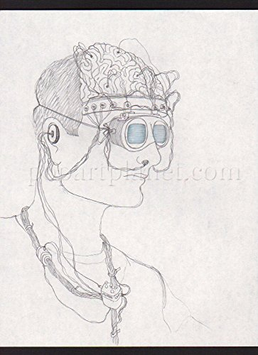 TOYS 1992 MOVIE ORIGINAL CONCEPT ART CARL ALDANA ROBIN WILLIAMS SENSORY HEADSET.
