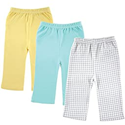 Luvable Friends 3-Pack Printed Pants, Grey Checker, 6-9 Months