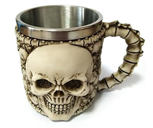 Jooyi® Decorative Ossuary Style 3D Horror Skull & - Jeweled Coffee Tumbler