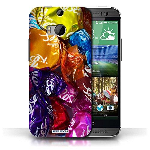 Coque en plastique pour HTC One/1 M8 Collection Bonbons - Roses