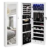 SONGMICS-6-LEDs-Mirror-Jewelry-Cabinet-Lockable-WallDoor-Mounted-Jewelry-Armoire-Organizer-with-Mirror-2-Drawe