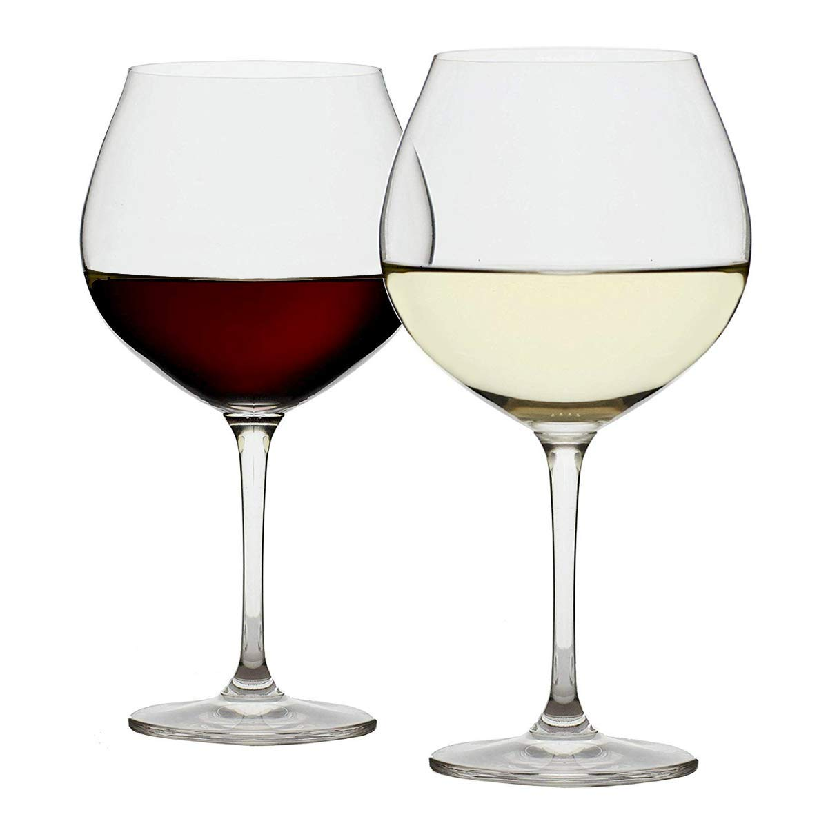 Extra Large Red Wine Glasses - Set of 2 Big 25oz Goblets | Long Stem | Lead-free Crystal | Powerful Valentines Day Gift - Olivia Pope Style | Wide Bowl for Burgundy Pinot Noir Cabernet Merlot Malbec