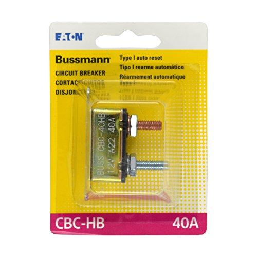 - Bussmann (BP/CBC-40HB-RP) 40 Amp Type-I Stud Mount Circuit Breaker with Lengthwise Bracket