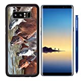 MSD Premium Samsung Galaxy Note8 Aluminum Backplate Bumper Snap Case IMAGE 26724973 drinking arabian horse in the lake sunny day Recommended with Reviews