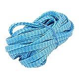 eDealMax 8 mm Dia serré Tressé PET Manchon extensible câble Wrap gaine Bleu Clair 32ft